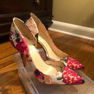 Floral Jessica Simpson pumps
